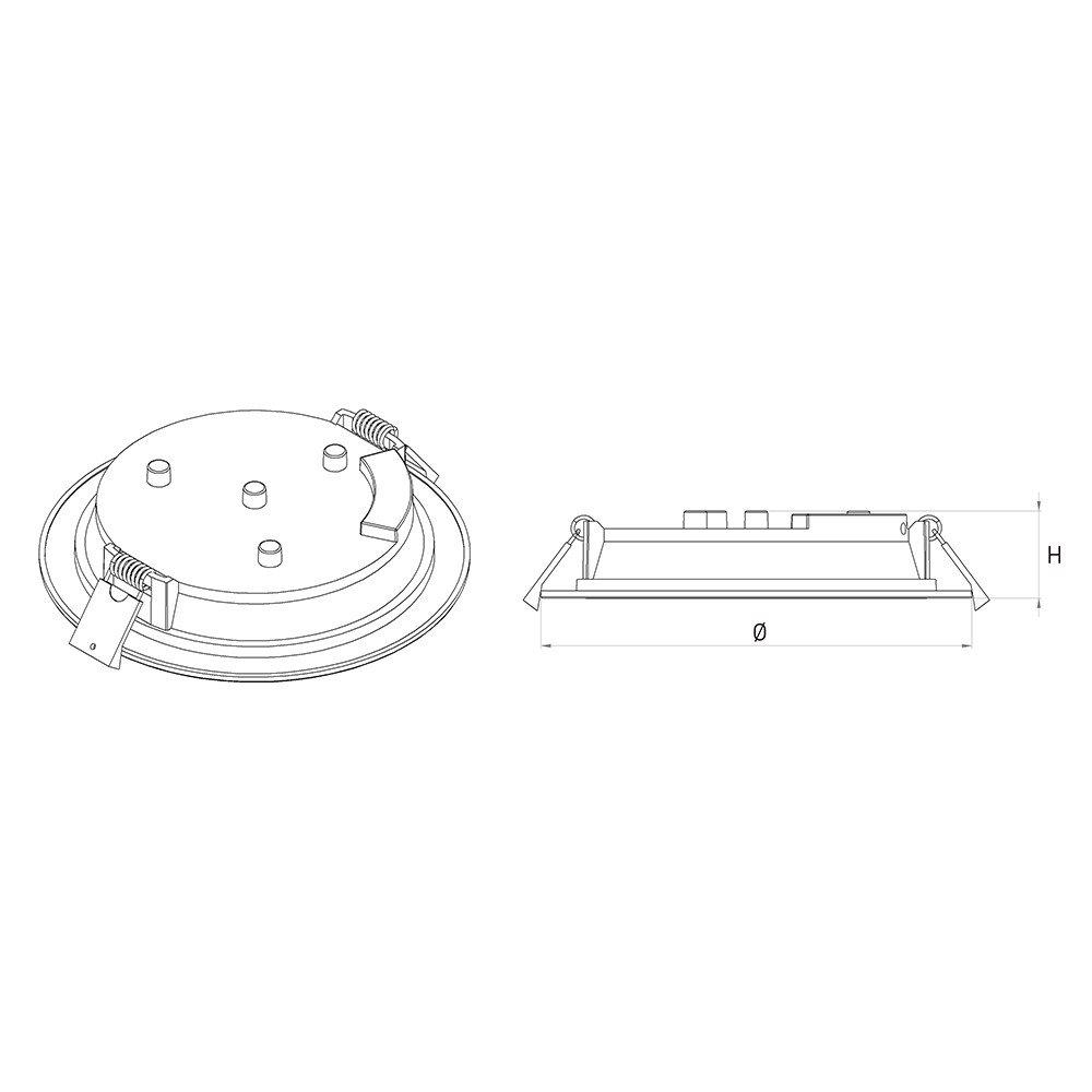 Đèn LED Âm Trần Panasonic 12W Tròn