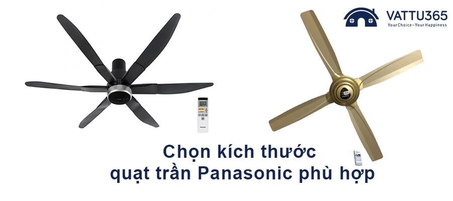 Mách cách chọn kích thước quạt trần Panasonic phù hợp mọi không gian