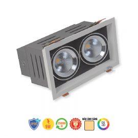 Đèn LED đôi âm trần Rạng Đông 9Wx2