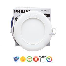 Đèn led âm trần Philips 9W tròn siêu mỏng
