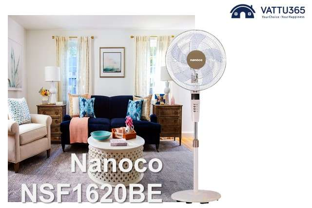 Quạt đứng Nanoco có remote
