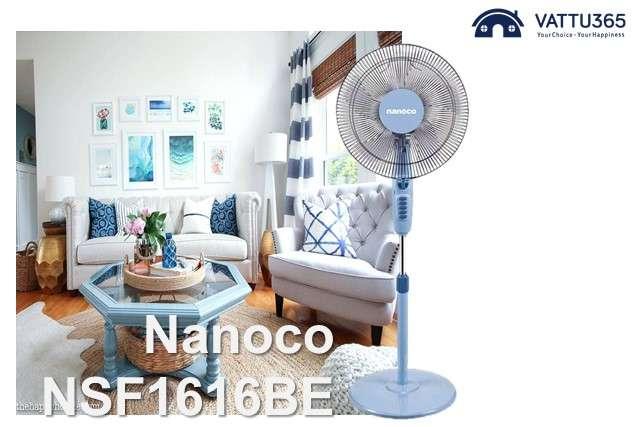 Quạt đứng Nanoco giá rẻ điều chỉnh bằng hộp số