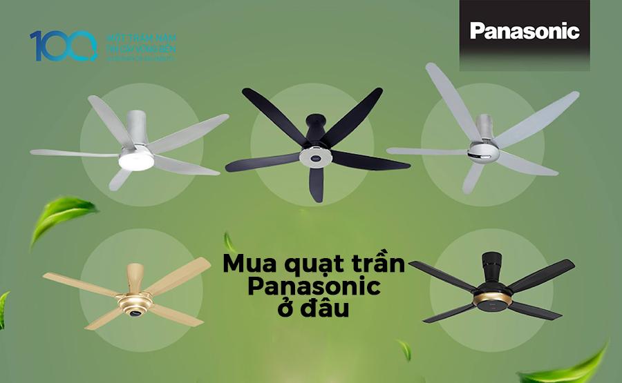 Quạt trần Panasonic trang bị điều khiển từ xa màn hình LCD hiện đại