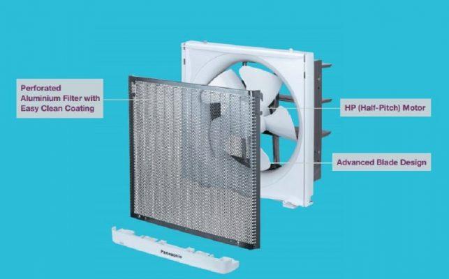 Cấu tạo chung của máy hút mùi Panasonic