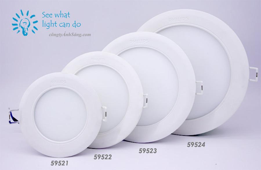 Các dòng đèn led âm trần Philips chất lượng cao