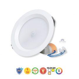 Đèn led âm trần cảm biến 9W Rạng Đông D AT04L 90/7W