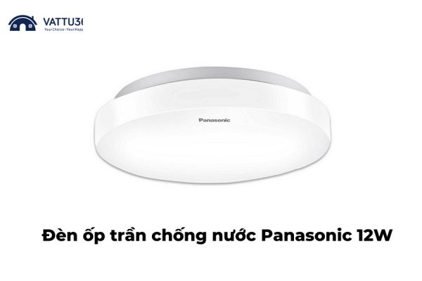LEd trần chống nước Panasonic 12W